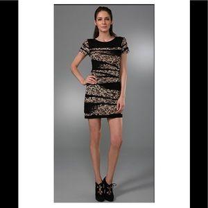 DVF Noelle mini silk short sleeve sheath dress- P